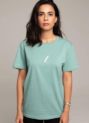 The Basic Collection Kadın - Tshirt Su Yeşili