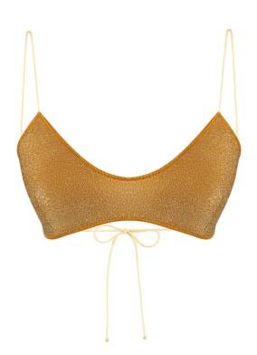 Ada Altın Simli Bikini Üstü