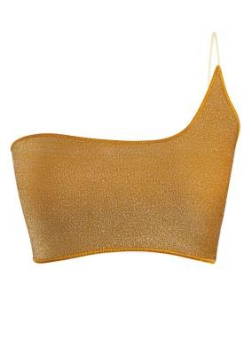 Dorsia Altın Simli Bikini Üstü