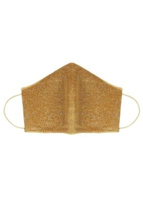 Glimmer Altın Simli Maske
