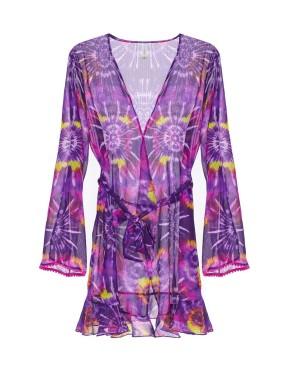 Genevieve Batik Desenli Kimono
