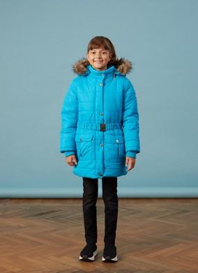 Orta Boy Mavi Kız Anorak