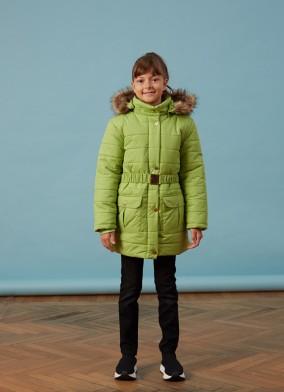 Orta Boy Yeşil Kız Anorak