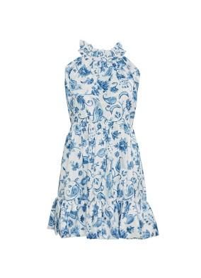 Bleu Blanc Elbise