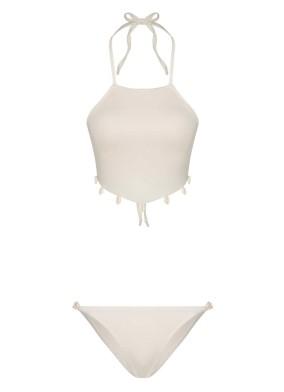 Deniz Kabuklu Beyaz Bikini