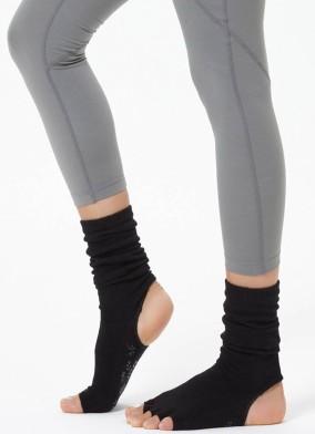 Siyah Bilekli Yoga & Pilates Çorabı