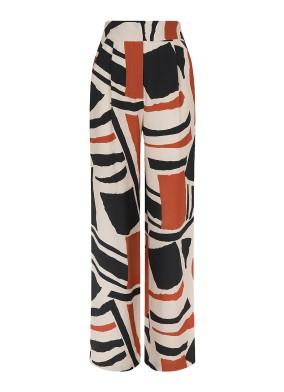 Dusk Yüksek Bel Desenli Pantolon