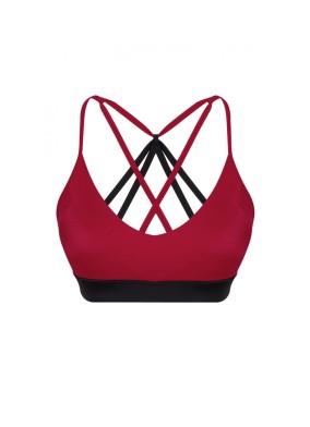 Aria Econyl Bordo Spor Bra & Bikini Üstü