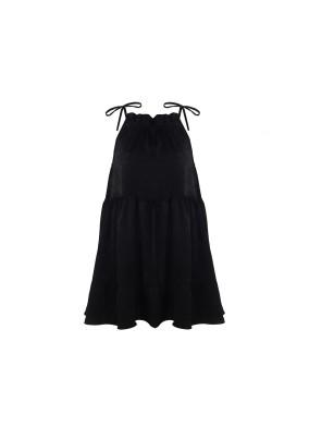 Azha Siyah Mini Elbise