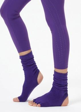Mor Bilekli Yoga & Pilates Çorabı