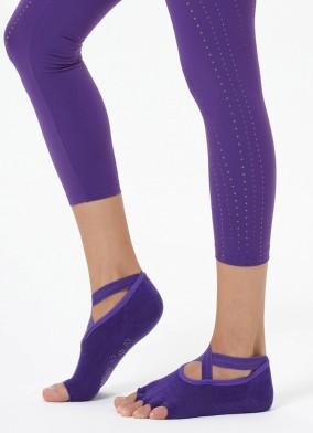 Mor Çapraz Kayışlı Yoga & Pilates Çorabı