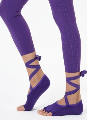 Mor Kayışlı Yoga & Pilates Çorabı