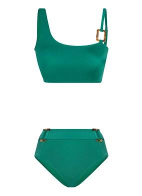 Halka Detaylı Yeşil Bikini