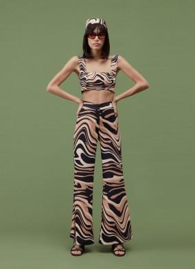 Liza Siyah Desenli Pantolon