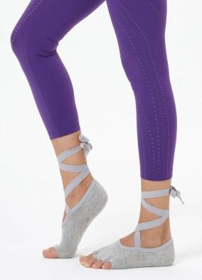 Gri Kayışlı Yoga & Pilates Çorabı
