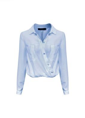 Alyssum Mavi Beli Lastikli Gömlek