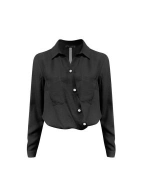 Alyssum Siyah Beli Lastikli Gömlek