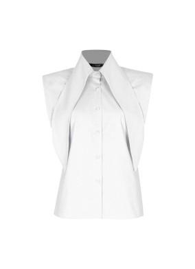 Anethum Beyaz Yaka Detaylı Vatkalı Koton Gömlek