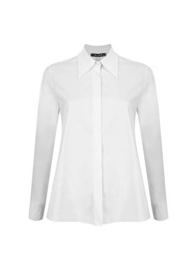 Aster Beyaz Club Yaka Koton Gömlek