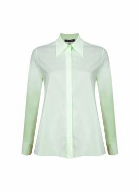 Aster Fıstık Yeşili Club Yaka Koton Gömlek