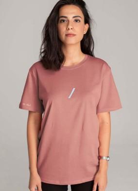 The Basic Collection Kadın - Tshirt Gül Kurusu
