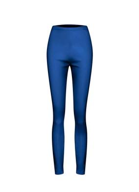 Achimenes Mavi Yüksek Bel Strech Deri Tayt Pantolon