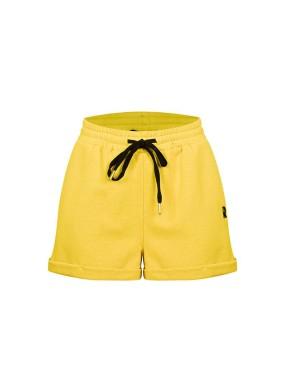 Adlumia Sarı Beli Kordonlu Duble Paça Şort