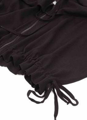 Anteros Siyah Kordonlu Kısa Ceket