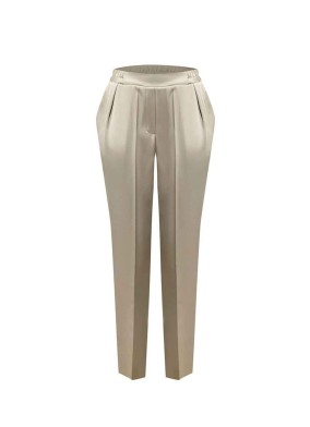 Aphelandra Taş Önü Korsajlı Arkası Lastikli Saten Pijama Pantolon