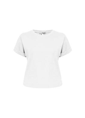 Attacus Beyaz Bisiklet Yaka Basic T-shirt