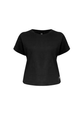 Attacus Siyah Bisiklet Yaka Basic T-shirt