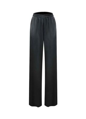Basilic Siyah Beli Lastikli Saten Pantolon