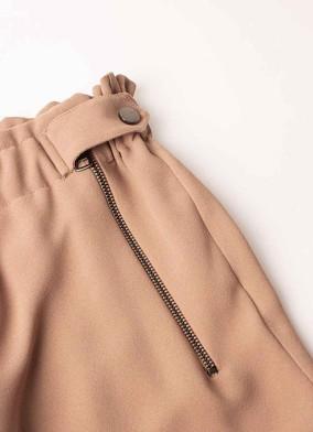 Brassica Pudra Fermuar Detaylı Krep Pantolon