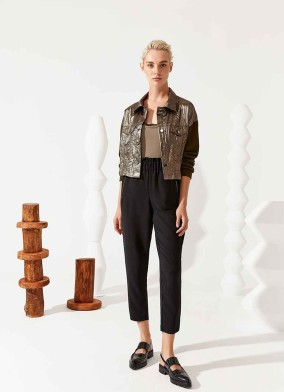 Brassica Siyah Fermuar Detaylı Krep Pantolon