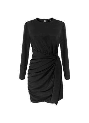 Coleus Bağlamalı Krep Mini Elbise