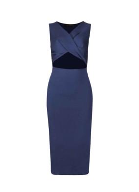 Eupheme Lacivert Pencereli Triko Elbise