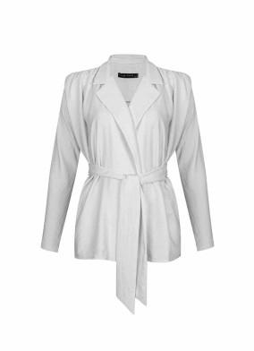 Hedera Ekru Rahat Kalıp Vatkalı Bluz Ceket