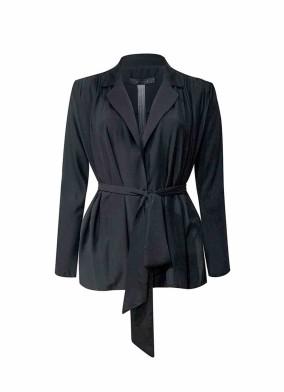 Hedera Siyah Rahat Kalıp Vatkalı Bluz Ceket