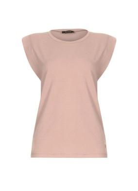 Helianthus Bej Vatkalı T-shirt