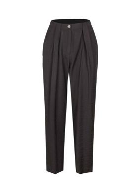 Lampon Siyah Bol Kesim Havuç Pantolon