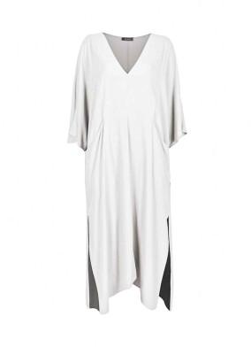 Novus Beyaz Loose Fit Pareo Elbise