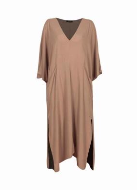Novus Camel Loose Fit Pareo Elbise