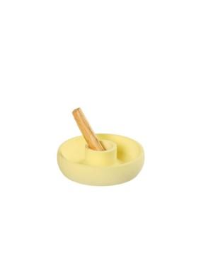Pastel Sarı Beton Palo Santo Tütsülük