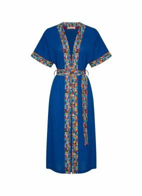 Realistic Kimono Banded Mavi