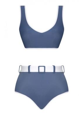 Ava Two-Tone Econyl Mavi Bikini