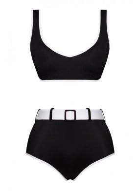 Ava Two-Tone Econyl Siyah Bikini