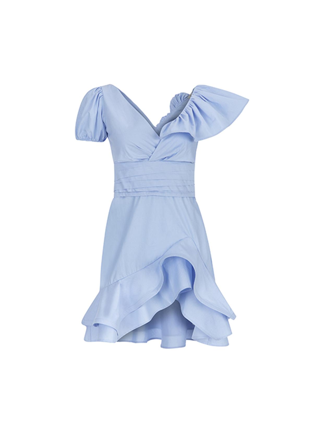 Volanlı Marilyn Poplin Elbise