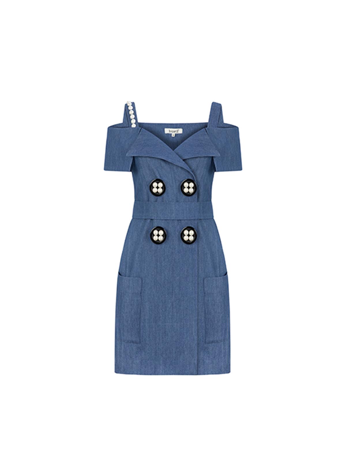 Iconic Denim Elbise