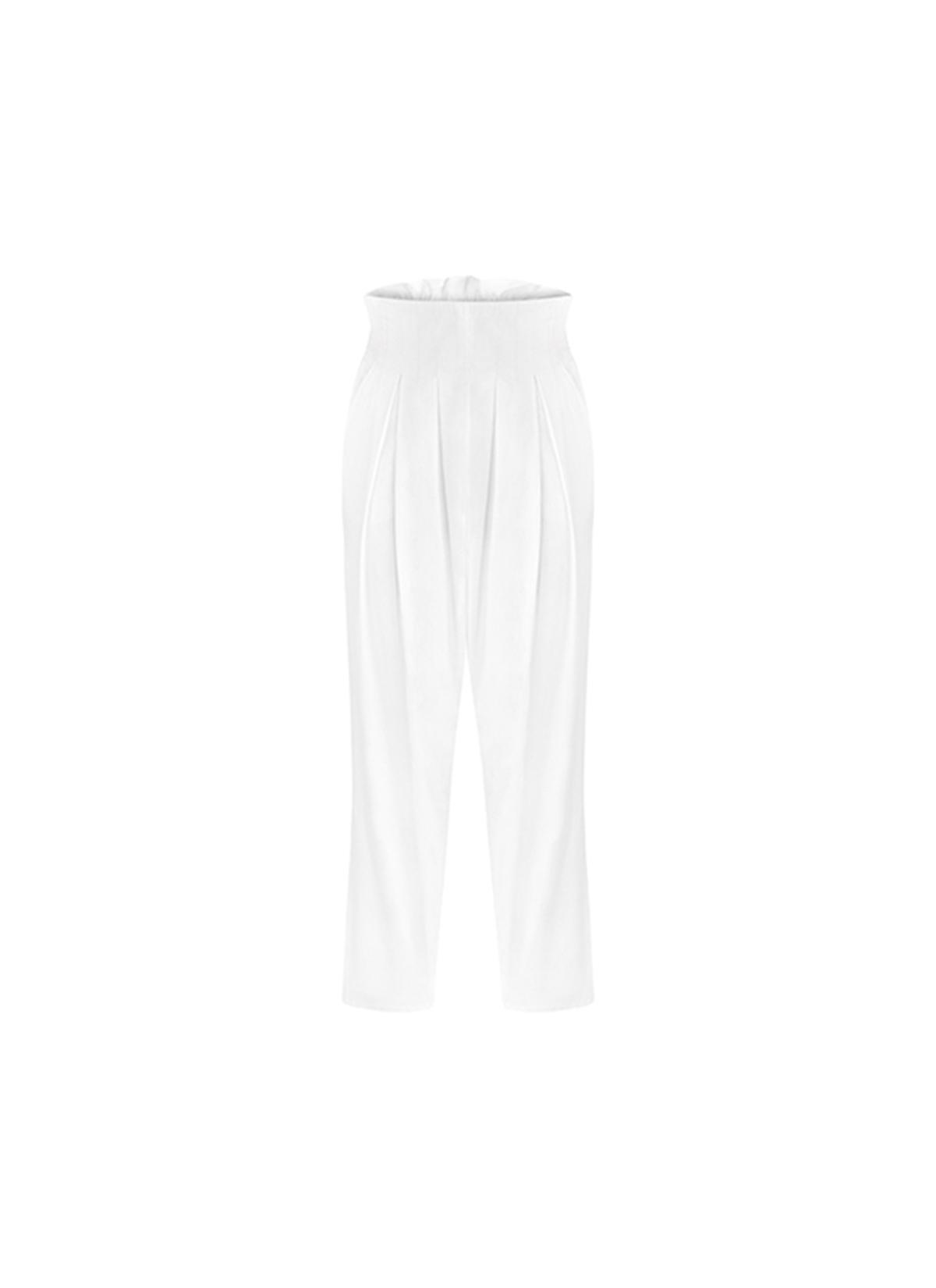 Beyaz Denim Havuç Pantolon