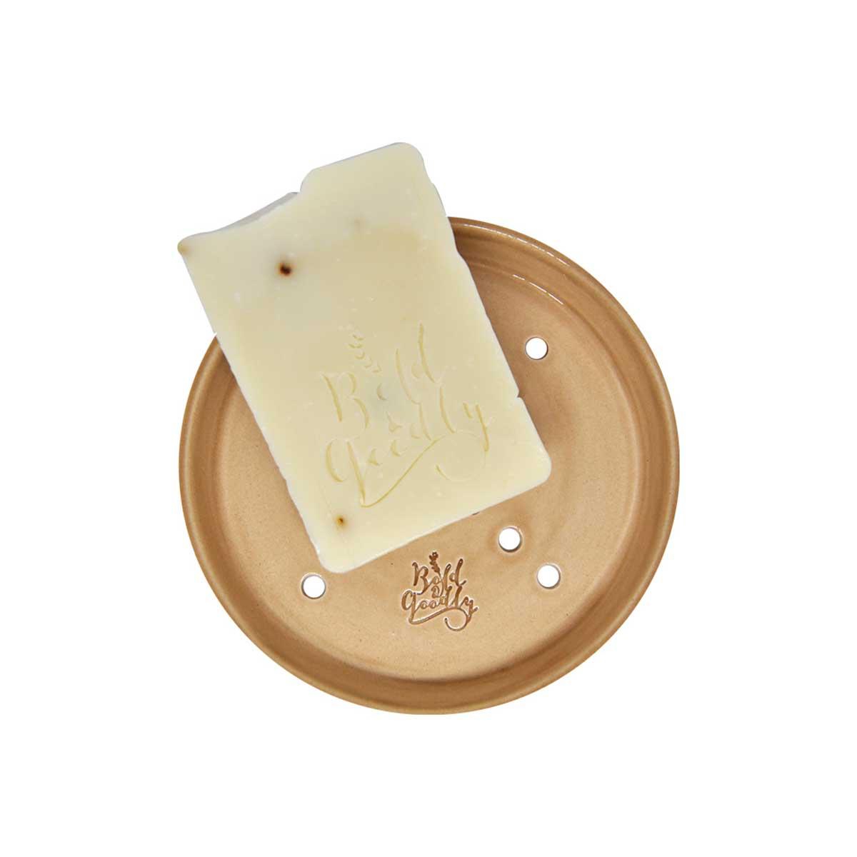 El Yapımı Seramik Sabunluk - Latte